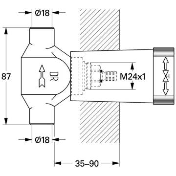 grohe up ventil unterteil l tanschluss dn 20 29803000 megabad. Black Bedroom Furniture Sets. Home Design Ideas