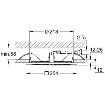 grohe rainshower f series 10 deckenbrause 27467000 megabad. Black Bedroom Furniture Sets. Home Design Ideas