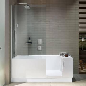 Duravit Shower Bath Dusch Badewanne Ecke Links 170 X 75 Cm