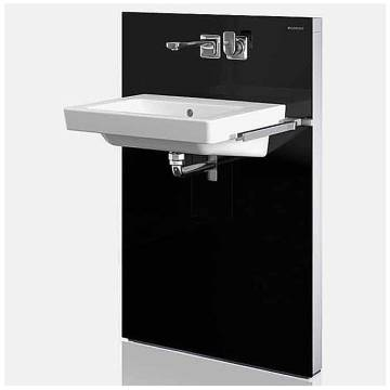 geberit monolith waschtischmodul f r wandarmaturen megabad. Black Bedroom Furniture Sets. Home Design Ideas