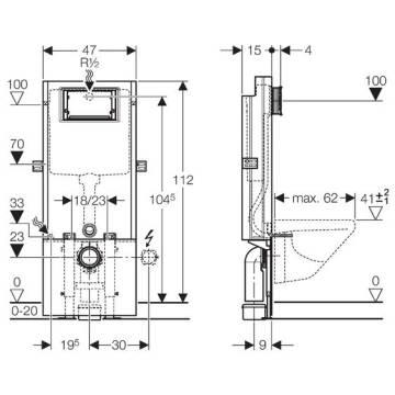 geberit sanbloc baustein f r wand wc 112 cm. Black Bedroom Furniture Sets. Home Design Ideas