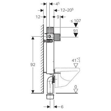 geberit kombifix element f r wand wc 98 cm mit omega up sp lkasten 12 cm megabad. Black Bedroom Furniture Sets. Home Design Ideas
