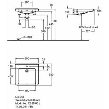 Keramag Renova Nr1 Comfort Waschtisch 60 Cm Unterfahrbar Megabad
