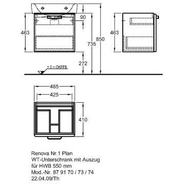 keramag renova nr 1 plan waschtischunterschrank 879170000 megabad. Black Bedroom Furniture Sets. Home Design Ideas