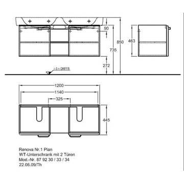 Keramag Renova Nr1 Plan Waschtischunterschrank Mit 2 Türen