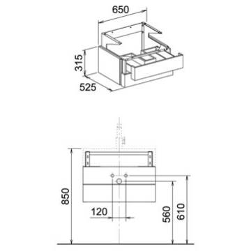 keuco edition 300 waschtischunterbau 65 cm 30364383800 megabad. Black Bedroom Furniture Sets. Home Design Ideas