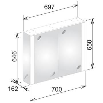 keuco royal 60 spiegelschrank 70 cm 22111171301 megabad. Black Bedroom Furniture Sets. Home Design Ideas