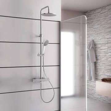 Kronenbach Duschsystem 2.0 rund mit Thermostat und Kopfbrause 22,5 cm