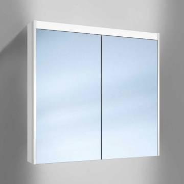 Kronenbach Moon Spiegelschrank 80 cm mit 2 Türen inkl. LED- und Waschplatzbeleuchtung