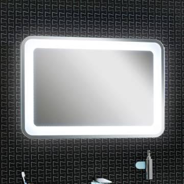 lanzet m9 spiegelelement 90 x 60 cm mit indirekter led beleuchtung und sensor 7209312 megabad. Black Bedroom Furniture Sets. Home Design Ideas
