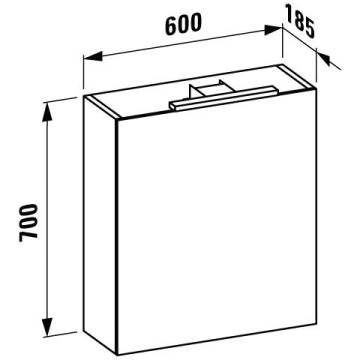 Laufen Base Spiegelschrank 60 Cm Anschlag Rechts H4027521102601