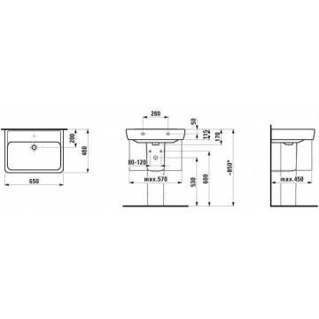 laufen pro a waschtisch 65 cm h8189530001041 megabad. Black Bedroom Furniture Sets. Home Design Ideas