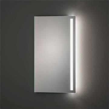 Megabad Architekt 300 LED Flex 45 x 80 cm, mit satiniertem Lichtausschnitt rechts