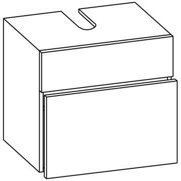 Pelipal Fokus 3005 Waschtischunterschrank 60 Cm Mit 1 Schubkasten