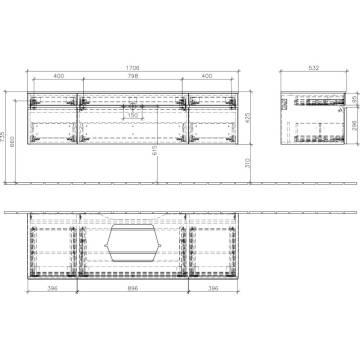 villeroy boch edition memento waschtischunterschrank 170 6 x 42 5 x 53 5 cm c25300fc megabad. Black Bedroom Furniture Sets. Home Design Ideas
