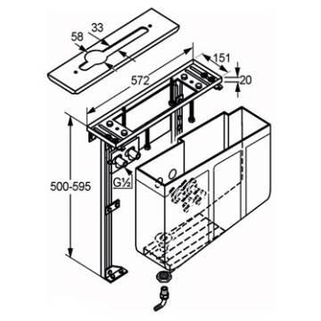 keuco montageblock f r 4 loch wannenrandarmaturen 53030000070 megabad. Black Bedroom Furniture Sets. Home Design Ideas