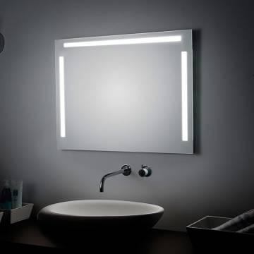 koh i noor spiegel 140 x 80 cm mit ober und seitenbeleuchtung t5 art 45923 megabad. Black Bedroom Furniture Sets. Home Design Ideas