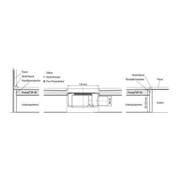 poresta systems bf 95 bodenebenes duschsystem 100 x 100 x 3 5 cm megabad. Black Bedroom Furniture Sets. Home Design Ideas
