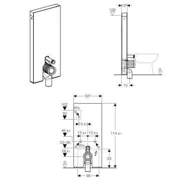 Geberit Monolith Plus Montageanleitung : geberit monolith plus sanit rmodul f r stand wc 114 cm ~ A.2002-acura-tl-radio.info Haus und Dekorationen