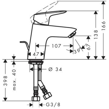 Sehr hansgrohe Logis Einhebel-Waschtischmischer 70 mit QuickClean RV95