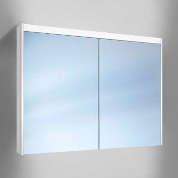 Kronenbach Moon Spiegelschrank 100 cm mit 2 Türen inkl. LED- und Waschplatzbeleuchtung