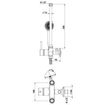 Sehr KWC Einhebelmischer Dusche Niederdruck mit gerader Armatur 114.81 KD29