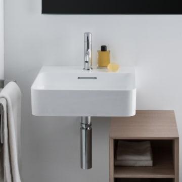 LAUFEN Val Handwaschbecken 45 x 42 cm mit Hahnloch, mit Überlauf