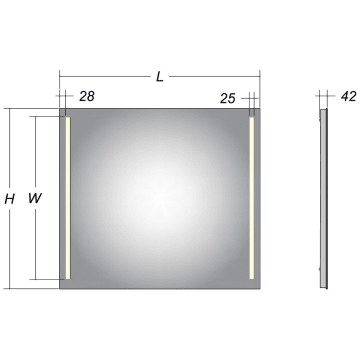 Home LED Spiegel 70 x 80 cm MBH8070D MEGABAD