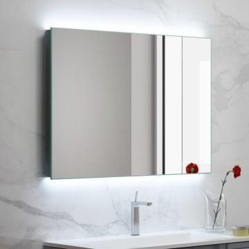 Megabad Living Spiegel 100 x 80 cm mit LED-Hintergrundbeleuchtung