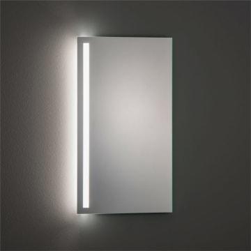 SKY LED Spiegel made by Zierath 45 x 80 cm, mit satiniertem Lichtausschnitt links