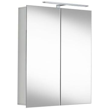 Alu 100 LED Spiegelschrank S60
