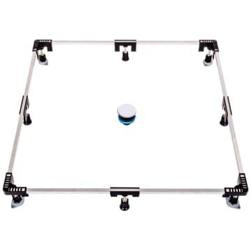 Poresta Systems Universal-Rahmen 1200 für Duschwannen aus Stahl und Acryl