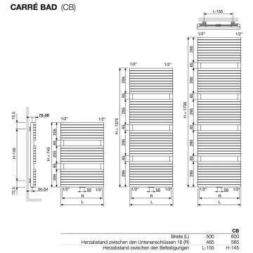 Vasco Carre Cb.Vasco Carre Cb Badheizkorper 50 X 9 8 X 173 5 Cm