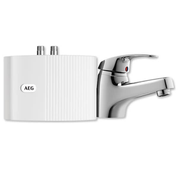 AEG Klein-Durchlauferhitzer MTH 350 UTE mit Armatur MTH B: 19 T: 8,2 H: 14,3 cm weiß 189557