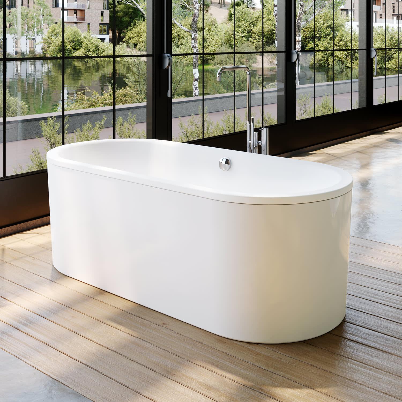 Kaldewei Classic Duo Oval Modell 20 20 freistehende Badewanne mit Schürze,  20 x 20 cm