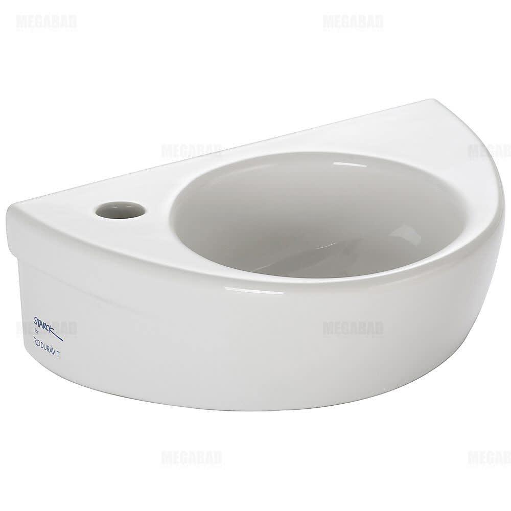 Duravit Starck 2 Handwaschbecken 38 cm Hahnloch links - MEGABAD