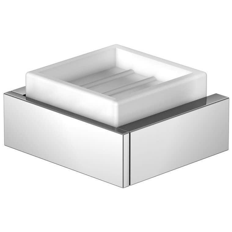 Steinberg Serie 460 Seifenhalter Glas Weiß 4602201 Megabad