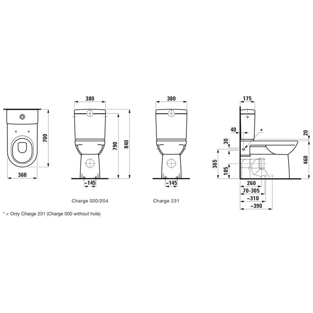 Gut gemocht Laufen Pro Stand-Tiefspül WC für Kombination mit erhöhter Sitzhöhe MP44